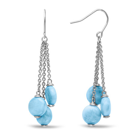 marahlago larimar Seafoam Larimar Earrings jewelry