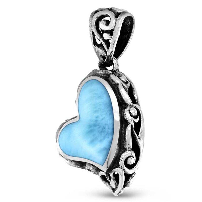 marahlago larimar Sirena Heart Larimar Necklace jewelry