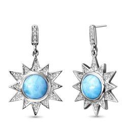 marahlago round Solstice Larimar Earrings