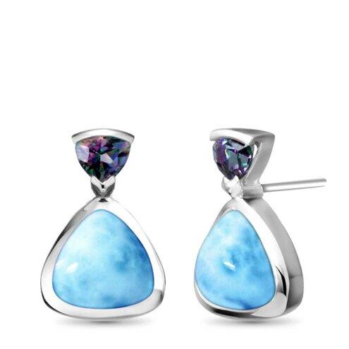 Spectral Larimar Earrings