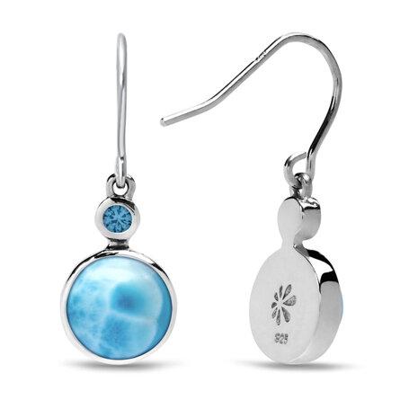 marahlago larimar Splash Larimar Earrings jewelry