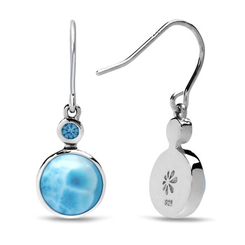 Splash Larimar Earrings