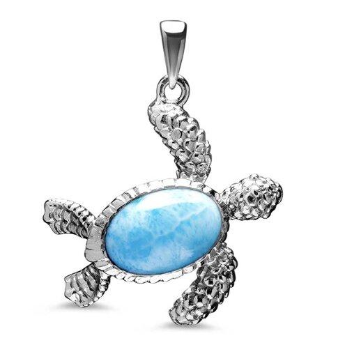 Turtle Larimar Necklace