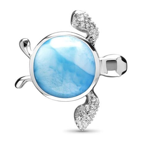 marahlago larimar Sapphire Sea Turtle Necklace jewelry