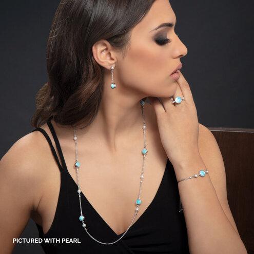Hideaway Pearl Larimar Necklace