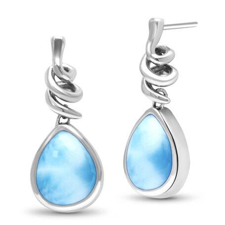 marahlago larimar Muse Larimar Earrings jewelry