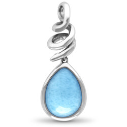 marahlago pear Muse Larimar Necklace