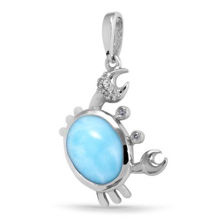 marahlago larimar Crab Sapphire Necklace jewelry