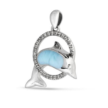 marahlago larimar Dolphin Sapphire Necklace jewelry