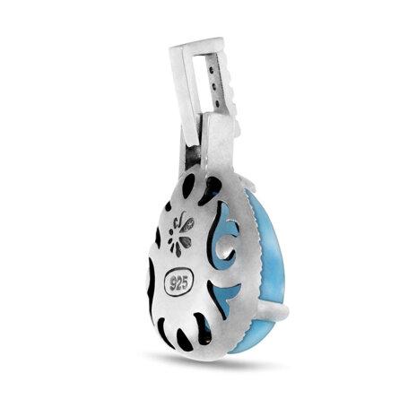 marahlago larimar Radiance Pear Larimar Necklace jewelry