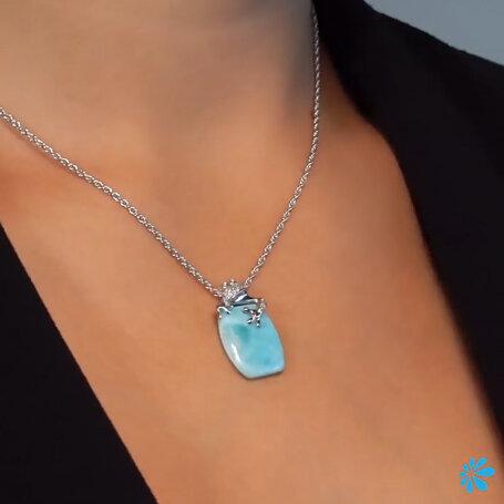 marahlago larimar Tree Frog Larimar Necklace jewelry