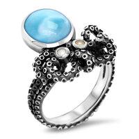 marahlago Octopus Larimar Ring
