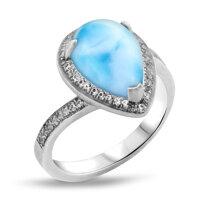 marahlago Radiance Pear Larimar Ring