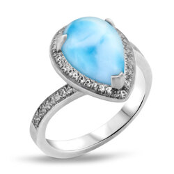marahlago other Radiance Pear Larimar Ring