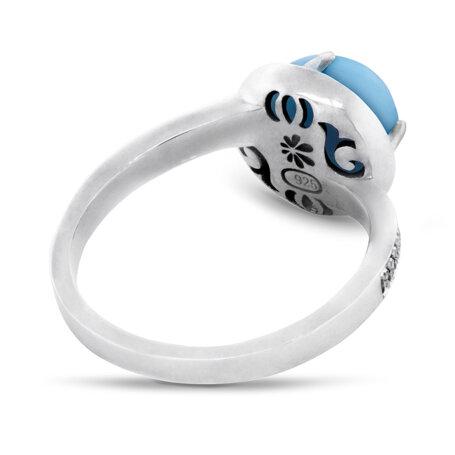 marahlago larimar Radiance Round Larimar Ring jewelry