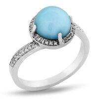 marahlago Radiance Round Larimar Ring