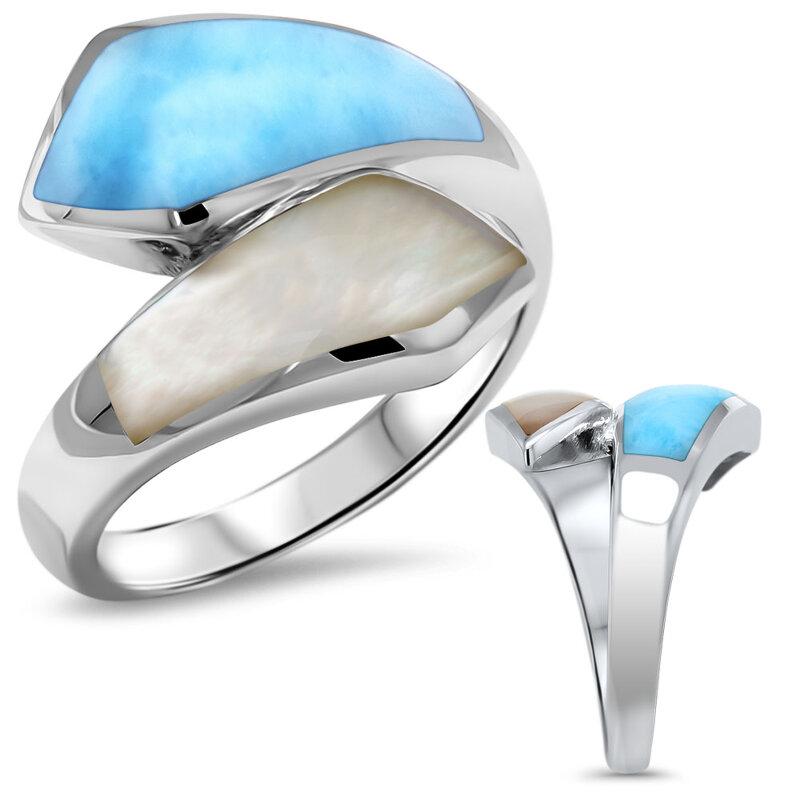 marahlago larimar Calder Larimar Ring jewelry