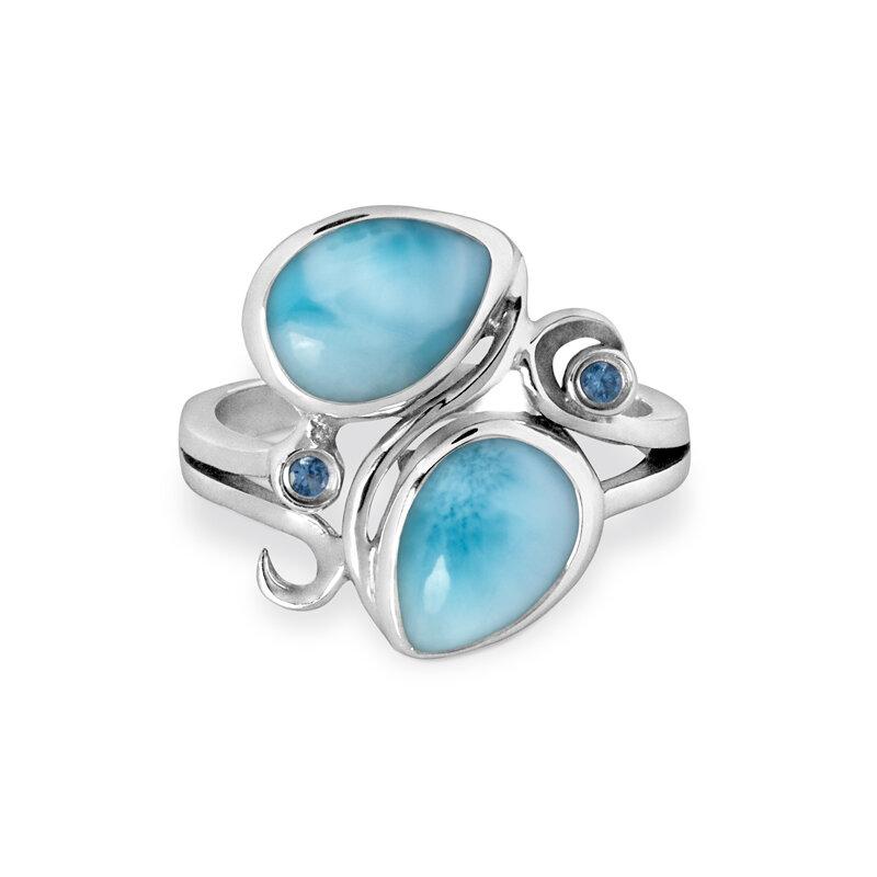 marahlago larimar Lyric Larimar Ring jewelry
