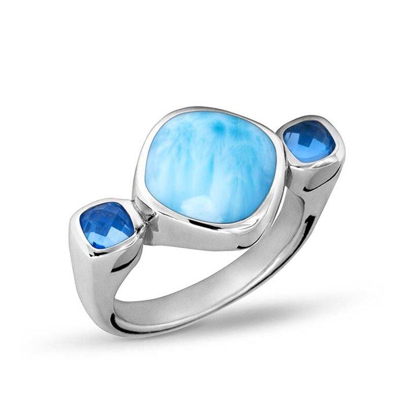 marahlago larimar Waterfall Ring jewelry