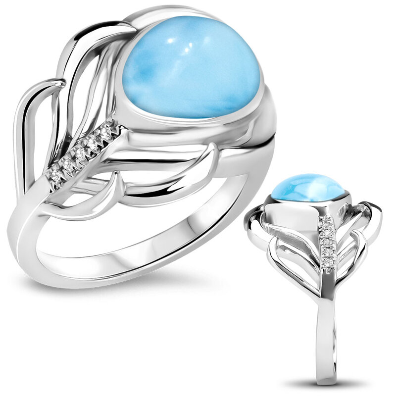 marahlago larimar Willow Larimar Ring jewelry