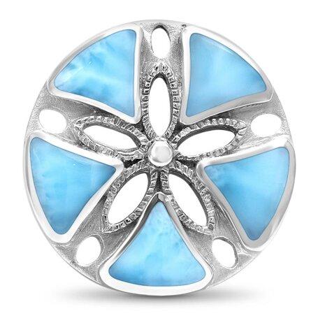 marahlago larimar Keyhole Sand Dollar Necklace jewelry