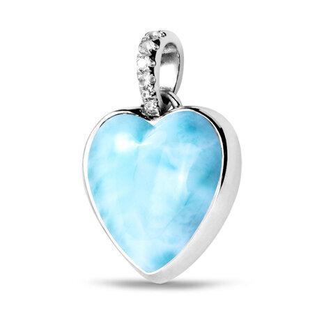 marahlago larimar Sapphire Heart Necklace jewelry