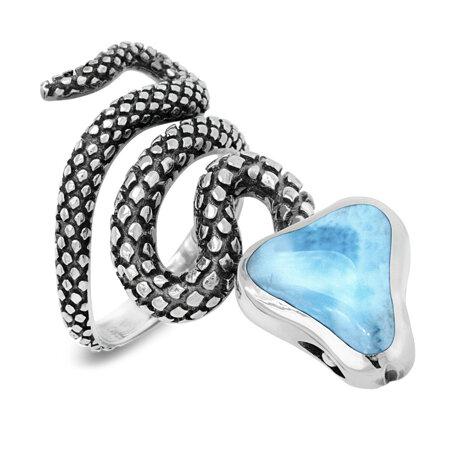marahlago larimar Snake Larimar Ring jewelry