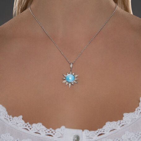 marahlago larimar Solstice Larimar Necklace jewelry