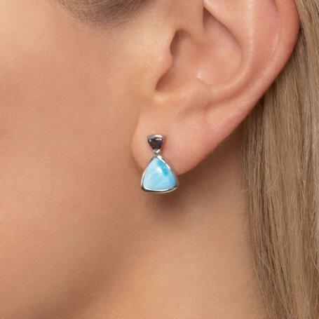 marahlago larimar Spectral Larimar Earrings jewelry