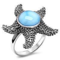 marahlago Starfish Larimar Ring