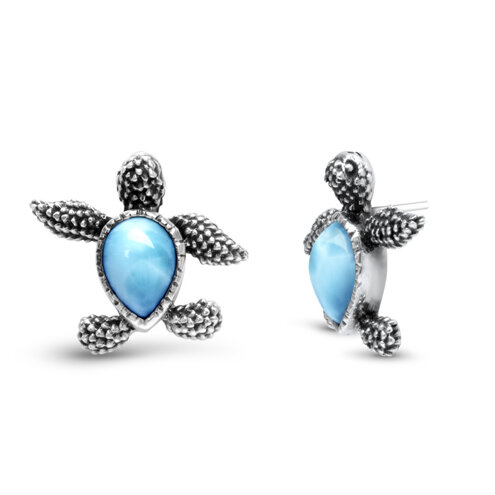 Turtle Larimar Earrings