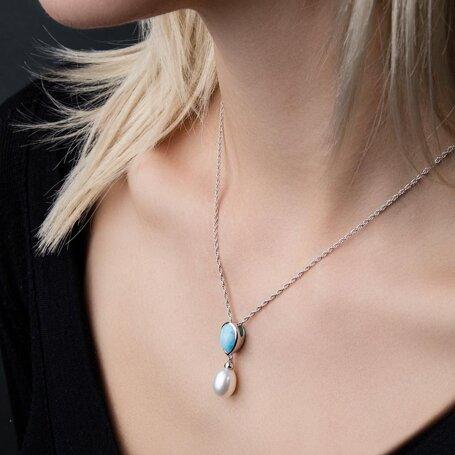 marahlago larimar Alisa Larimar Necklace jewelry